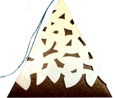 Boite gateau pyramide marron boutique - Ustensiles patisserie pas cher ...